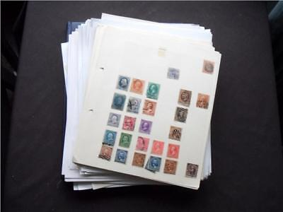 14164aj USA MINT AND USED STAMPS COLLECTION INCLUDING MANY CLASSICS - VIEW ???