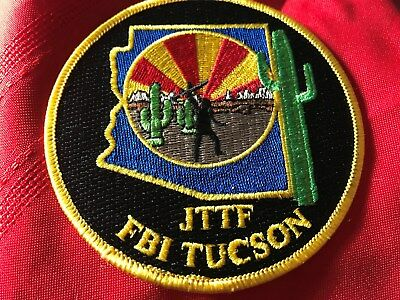 FBI Tucson Arizona Joint Terrorism Task Force Police patch JTTF