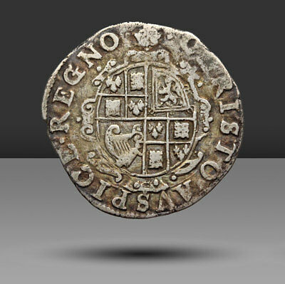 ENGLAND. Charles I Hammered Silver Sixpence, mm: Crown, 1635-6