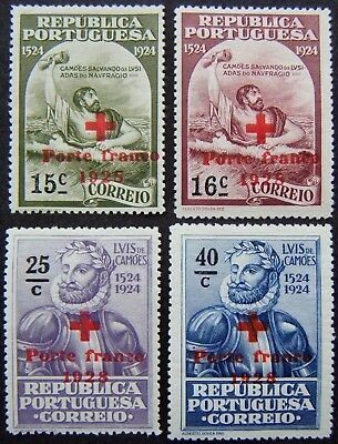 Portugal 1928 - 1930. Red Cross overpts on 1924 Camoes issue (18 stamps m or u).