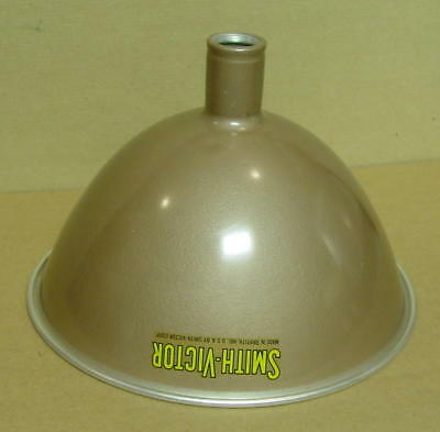 "Vintage Brown Aluminum Smith-Victor 12"" Light Shade, Made in USA"