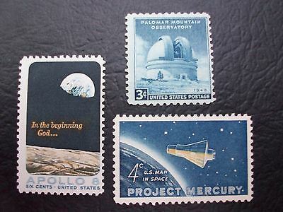 3 pioneer space stamps