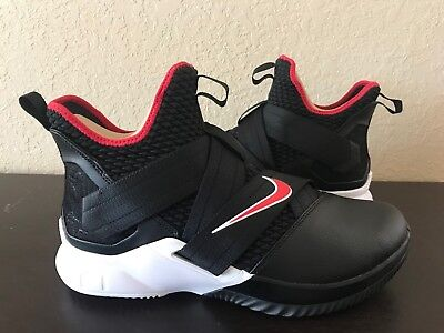 best website d30bd a2e76 NIKE LEBRON SOLDIER 12 Xii Black University Red White Ao2609 001 Us Mens Sz  11.5