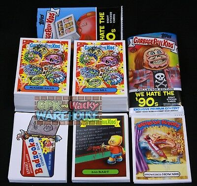 Garbage Pail Kids We Hate The 90's Master Set Base Wacky Pails Classic 2 Wrapper