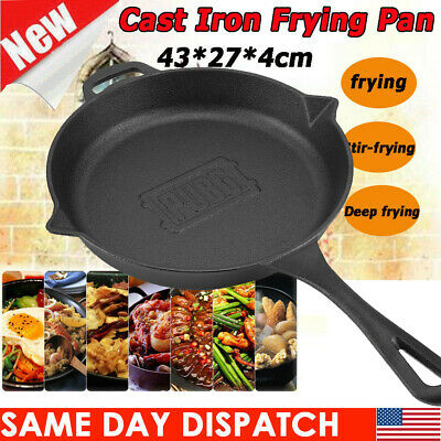 Cast Iron Skillet 10.6 '' Fry Pan Oven Pre-Seasoned Cookware Cooking Stove Pot