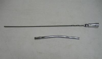 1965-1979 Pontiac V8 Polished Aluminum Engine Oil Dipstick & Tube w/ Deluxe Knob