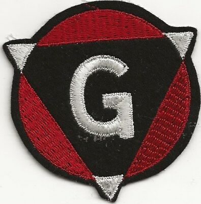 """RARE ORIGINAL WWI/20's """"19TH INFANTRY DIVISION"""" PATCH - EMBROIDERED ON WOOL"""