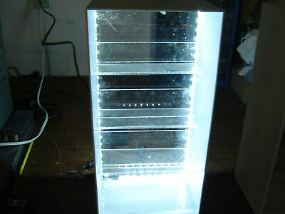 TWO lighted Acrylic Show Cases  8x15  6 inches deep