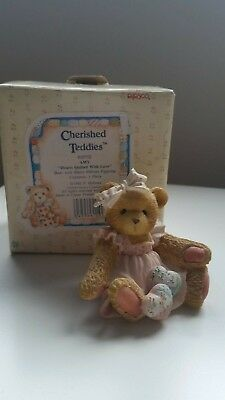 Cherished Teddies ~ Hearts Quilted with Love~ AMY ~ Bear Valentine 910732 MiB