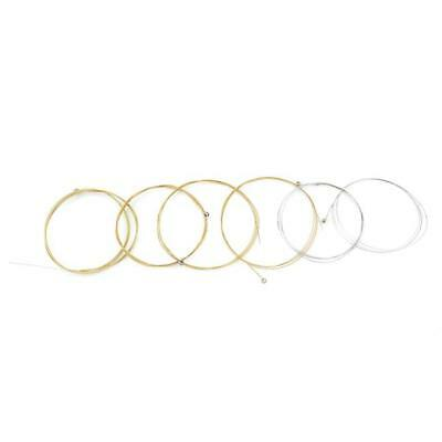 6 Pcs Guitar Strings Nylon Silver Plating Set Super Light for Acoustic Guitar 6T