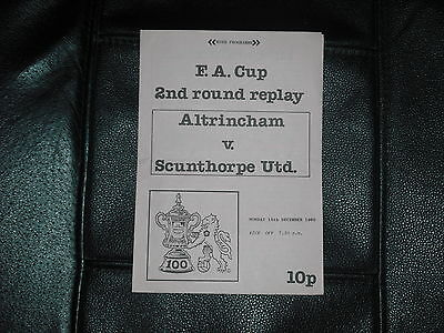 Altrincham  V  Scunthorpe United  (Fac 2Nd Rd Reply)  15-12-80   Four Pager