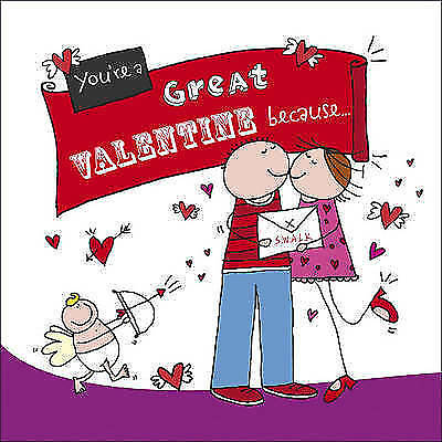 NEW You're a Great VALENTINE Because. . . by Ged Backland (Hardback) GIFT BOOK