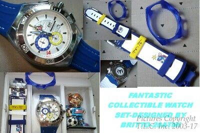 New Usa United States 114023A Soccer Britto Technomarine Chronograph Watch Set