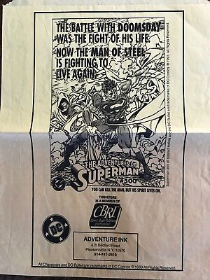 "Superman Graphic - Superman# 500  ""The Battle With Doomsday"" Rare"