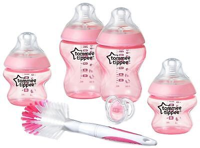 Tommee Tippee CLOSER TO NATURE BOTTLE STARTER KIT PINK Baby Feeding - NEW