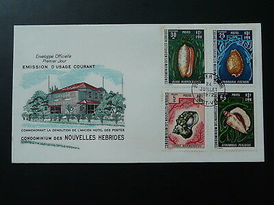 shell definitive stamps (including 5F) 1972 FDC New Hebrides (FR) 80141