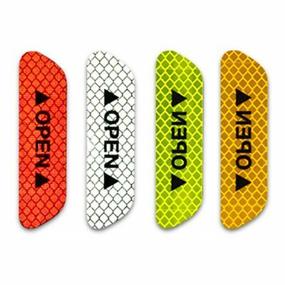 4pcs Car Door Open Sticker Reflective Tape Safety Warning Auto Decals Stickers