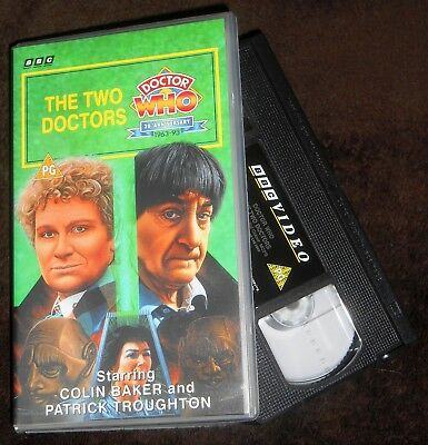 Doctor Who The Two Doctors VHS