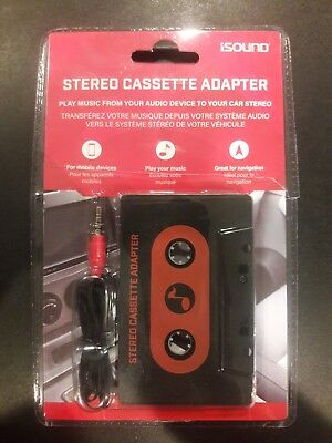 ISound Car Cassette Adapter - plays music from your device to cassette player