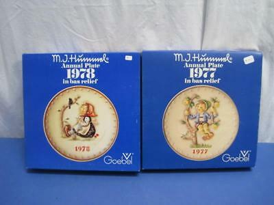 "Vintage Hummel Annual 8"" Diameter Plates by Goebel 1977-1978 Lot of 2 plates"