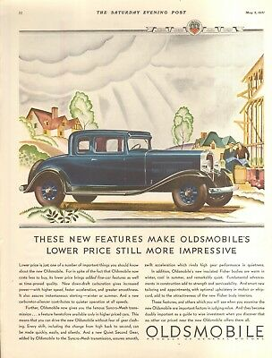 1931 Oldsmobile Coupe  Orig Vintage Car Ad