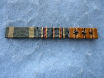WWII US Marine 3 Ribbon Bar Over Sized Pacific 3 Stars Navy Commendation PB WW2