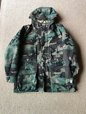 Vintage Columbia Delta Marsh Woodland Camo Gore Tex Parka Size L Made in USA