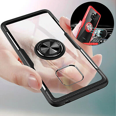 For Huawei Mate 20 Pro Case X Lite Rotate Stand Car Holder Magnetic Clear Cover