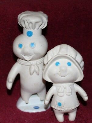 Vintage Pillsbury Doughboy And Poppy Plastic Characters Dolls Vgpc