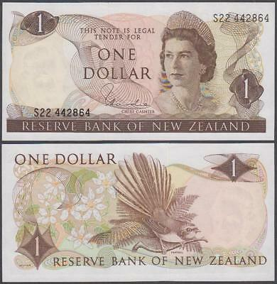 ND (1967-81) Reserve Bank of New Zealand Elizabeth II 1 Dollar (Unc)