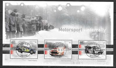NORWAY - 2007.  Motor Sport - Winter Rally - Miniature Sheet, Used.