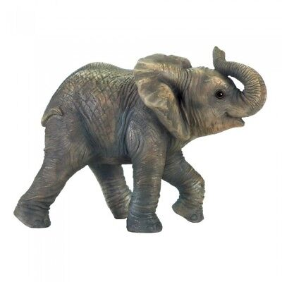 "**HAPPY ELEPHANT FIGURINE**  5.5"" x 10"" x  7.5"" High"