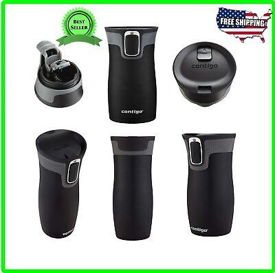 Contigo AUTOSEAL West Loop Stainless Steel Travel Mug 16 oz (Matte Black)