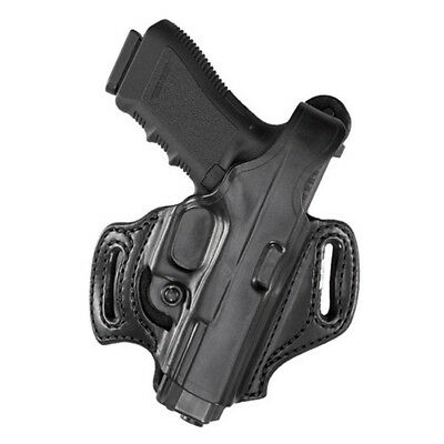 Aker Leather H168BPRU-SS320C Black Plain Right Hand Paddle Holster Sig P320C