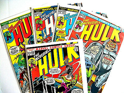 Incredible Hulk Bronze Age Lot of 9 Books - (VG/F to F)