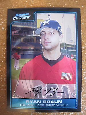 2006 Bowman Draft Ryan Braun Futures Game Prospects Card Rc