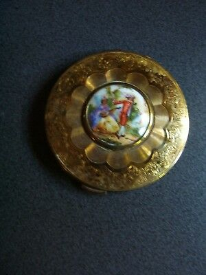 KIGU - Powder Compact with Mirror- VINTAGE- made in England