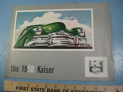 1950 Kaiser-Frazer Fold Out Dealership Brochure, Special, De Luxe, 18 by 24 inch