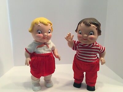 """Vintage Campbell Soup Kids Dolls - 10"""" tall"""