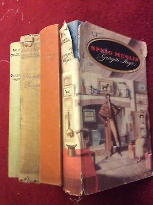 4 Georgette Heyer - Sprig Muslin, False Colours, Regency Buck, Powder and Patch