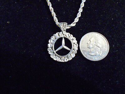 bling silver plated mercedes benz CAR pendant charm hip hop necklace JEWELRY hot