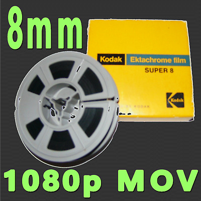 8 8mm Super 8 Regular 8 8mm Film to Digital Transfer Convert HD Frame-By-Frame