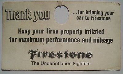 Firestone Advertising Tire Air Pressure Vintage Mirror Card; Two sided