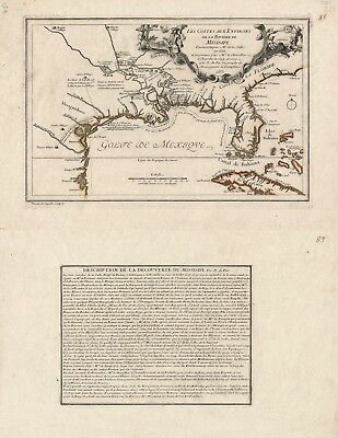 A4 Reprint of Lakes And Rivers Map Mississippi River