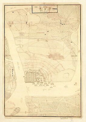 A4 Reprint of USA City Town State Map Siege Charles Town South Carolina