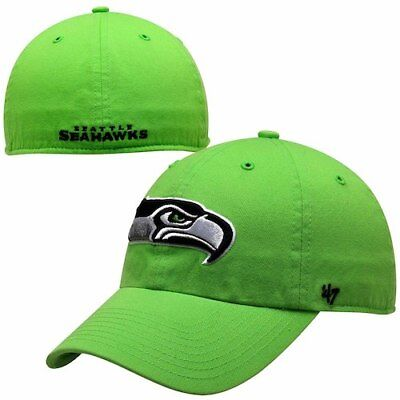 47 Brand Seattle Seahawks Neon Green Franchise Fitted Hat.   b45c332a9f15