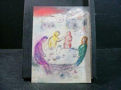 """NobleSpirit NO RESERVE {3970}""""The Meal at Drays House"""" Print Signed by Chagall"""