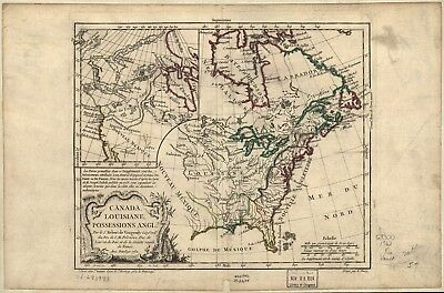 A4 Reprint of American Map Northern Usa