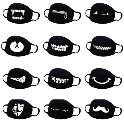 2Pcs Women Men Cotton Anime Mouth Face Mask Anti-Dust Cycling Respirator Mask US