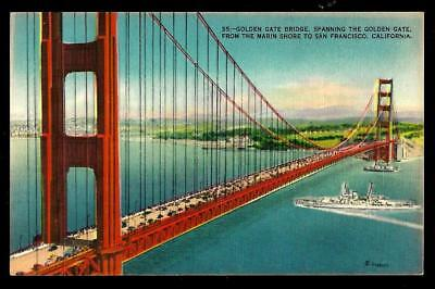 1¢ Wonder's ~ Unused Postcard W/ Golden Gate Bridge, San Francisco, Ca ~ R694